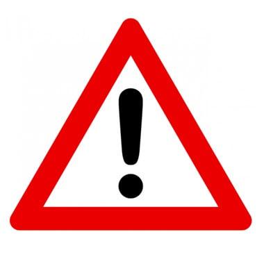 Señal de tráfico otros peligros Homologada 70cm