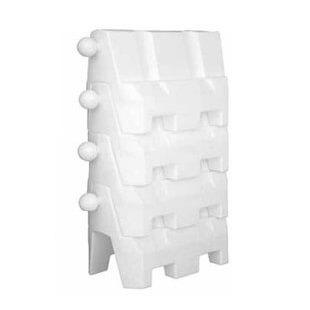 Barrera New Jersey de plástico apilable Blanca