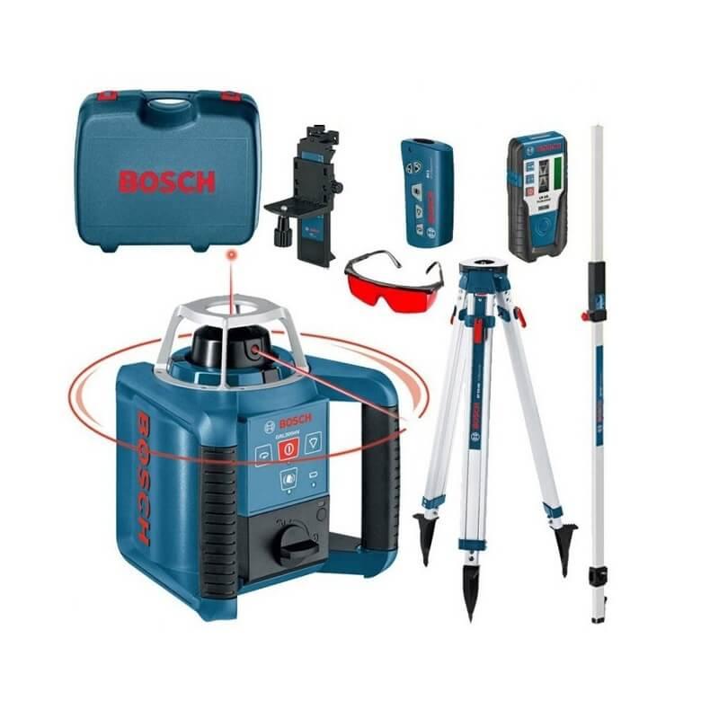 Nivel láser giratorio Bosch GRL 300 HV + RC1 + WM4 + LR1 + BT170 + GR240