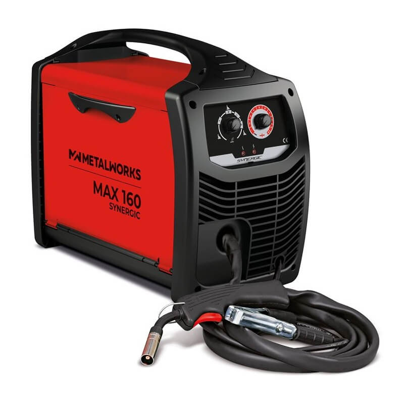 Soldadora inverter MIG-MAG MetalWorks Max 160 Synergic - Referencia 829816085