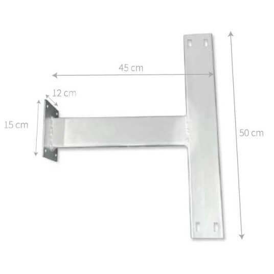 Soporte de pared para señales metálicas