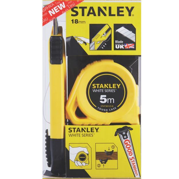 Pack Cutter 18mm + Flexómetro 5m Stanley - Referencia STHT74253-8