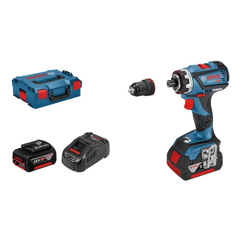 Taladro atornillador a batería Bosch GSR 18V-60 FC Professional con 2 baterías