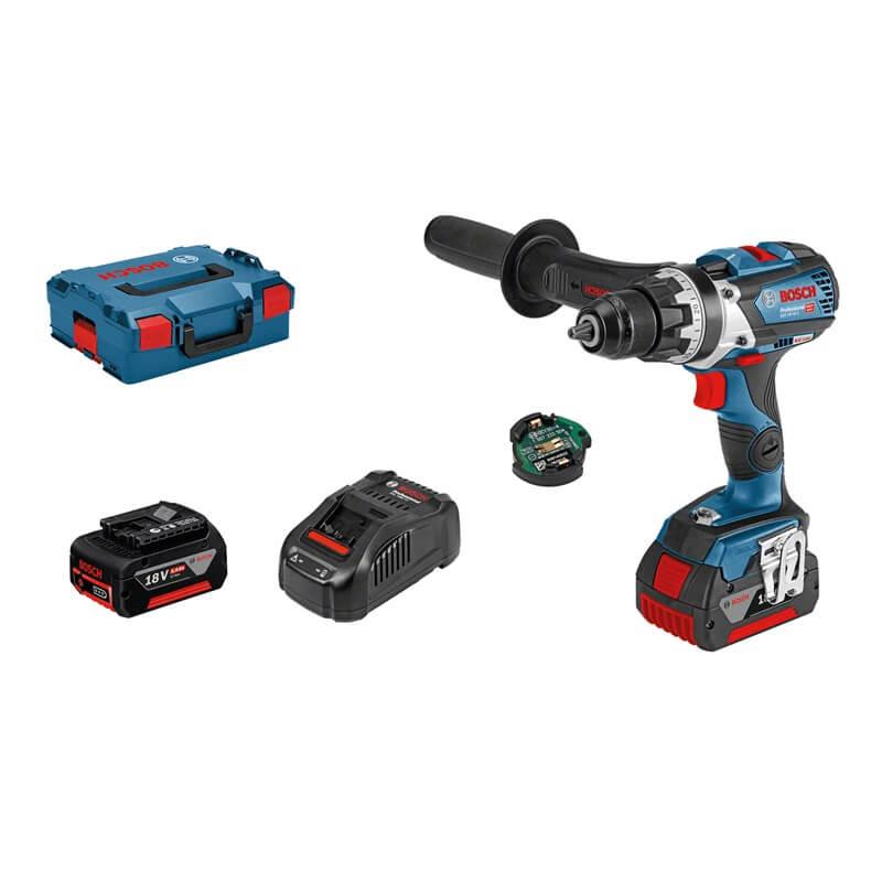 Taladro atornillador a batería Bosch GSR 18V-85 C Professional en L-BOXX con 2 baterías