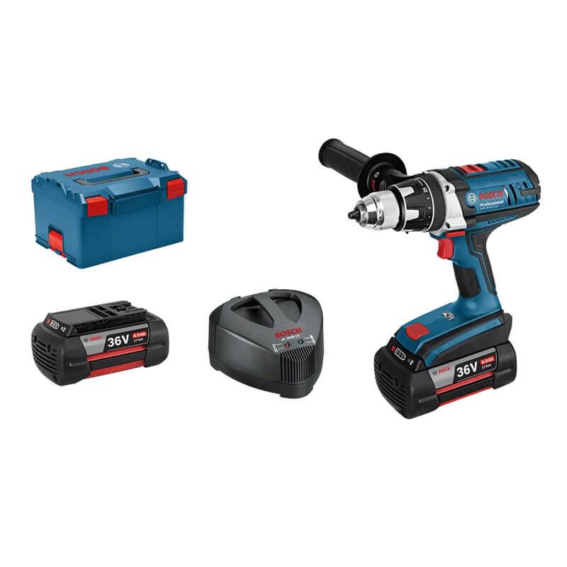 Taladro atornillador a batería Bosch GSR 36VE-2-LI Compact Professional en L-BOXX con 2 baterías