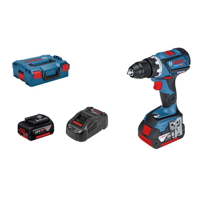 Taladro atornillador a batería Bosch GSR 18V-60 C Professional en L-BOXX con 2 baterías - Referencia 06019G1100