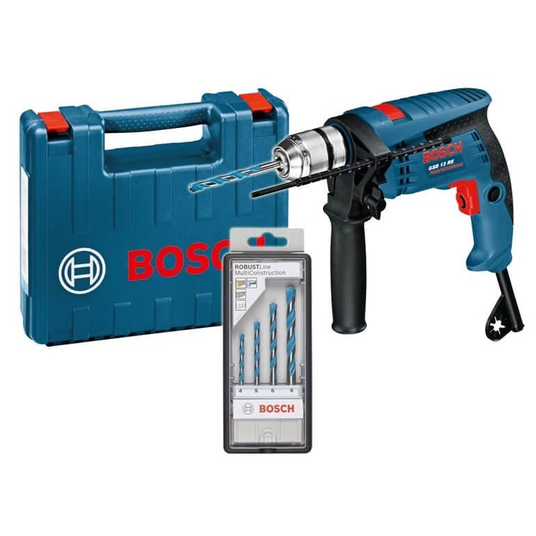 Taladro percutor Bosch GSB 13 RE Professional con maletín y brocas - 600W