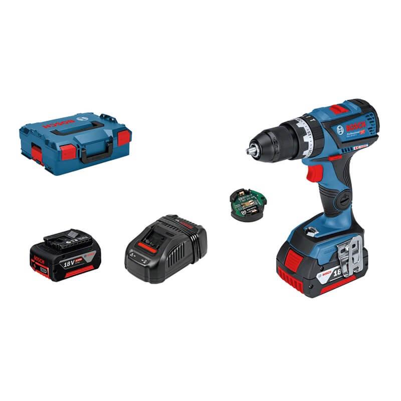 Taladro percutor a batería Bosch GSB 18V-60 C Professional con 2 baterías/Bluetooth - Referencia 06019G2101