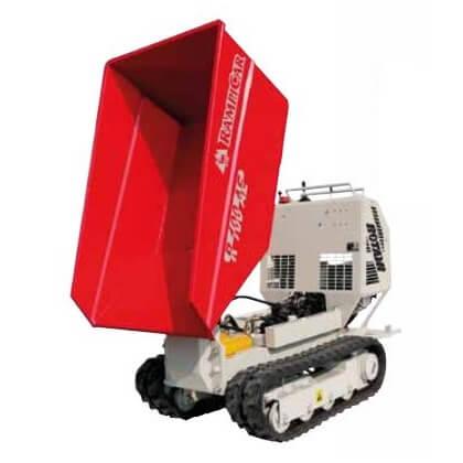 Mini transportador de oruga R100 con tolva tipo dumper Honda GX-390 1000kg