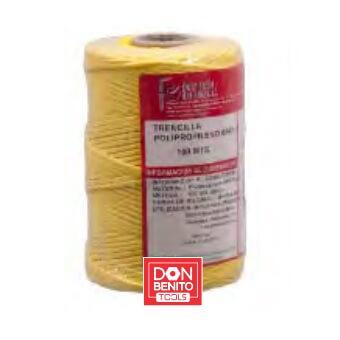 Trencilla de polipropileno amarillo Flores Cortés de 100mx2mm - Referencia 27463