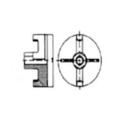Tuerca plato FERMAR cincada de Ø100mm