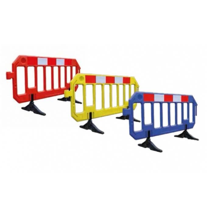Valla de plástico Gate Barrier Amarilla de 2 metros