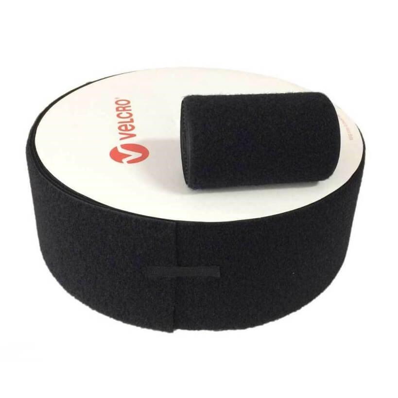Velcro téxtil negro ancho de 100mm (Precio metro lineal)